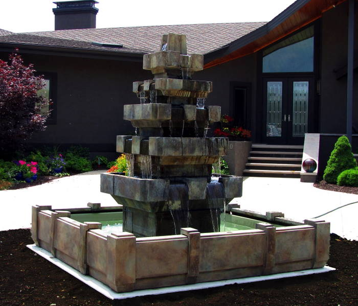 Cascadia Fountain in Dimensions Pool