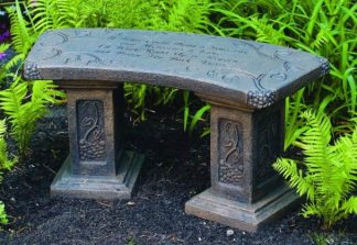 Benches with Garden Sayings